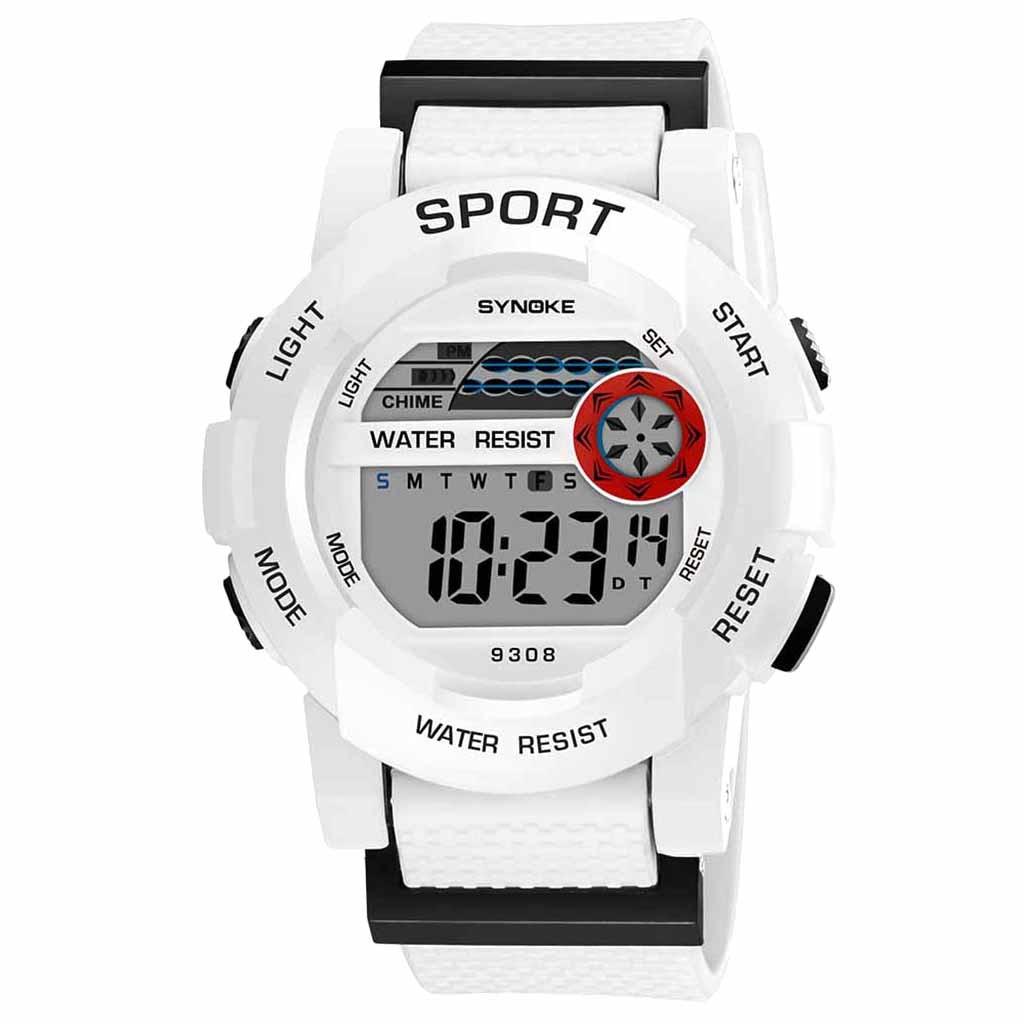 SYNOKE Student Sports Electronic Watch Fashion Watch MultiFunction Luminous Waterproof Digital LED Date WristWatch Hot Sale 7.2