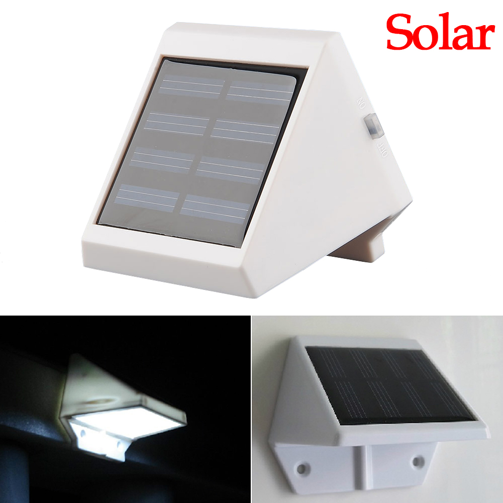 Solar Powered AA Ni-Mh Recharge Outdoor 4 LED White Light Waterproof Timeproof