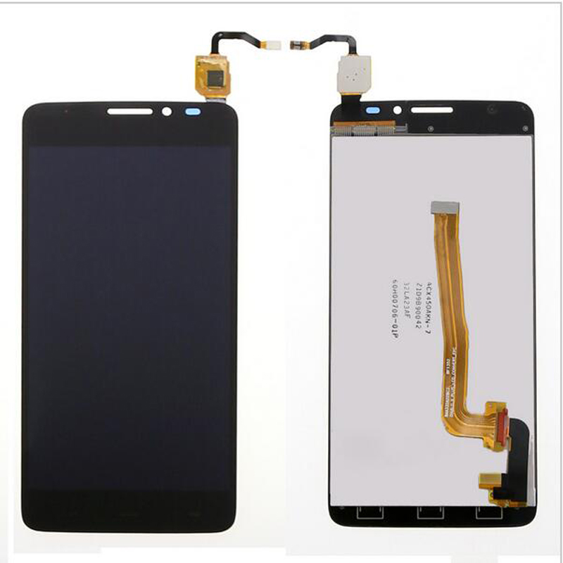 For Alcatel One Touch Idol X+ OT6043 6043 6043D LCD Display+Touch Screen Digitizer Assembly Replacement  white black 1 pcs for alcatel one touch idol x 6043 ot6043 lcd display with touch screen digitizer assembly free shipping