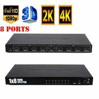 8 Port 1 In 8 Out 1x8 HDMI Splitter Audio Video 1080P For 4K/2K HD HDTV 3D DVD