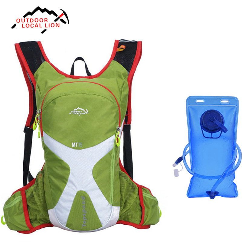 15L Outdoor Riding Climbing Hiking Backpack Bicycle Running Bag Bike Bicycle Cycling Rucksack Hydration Pack Water Bladder Bag горный велосипед phillips ms881 51 21