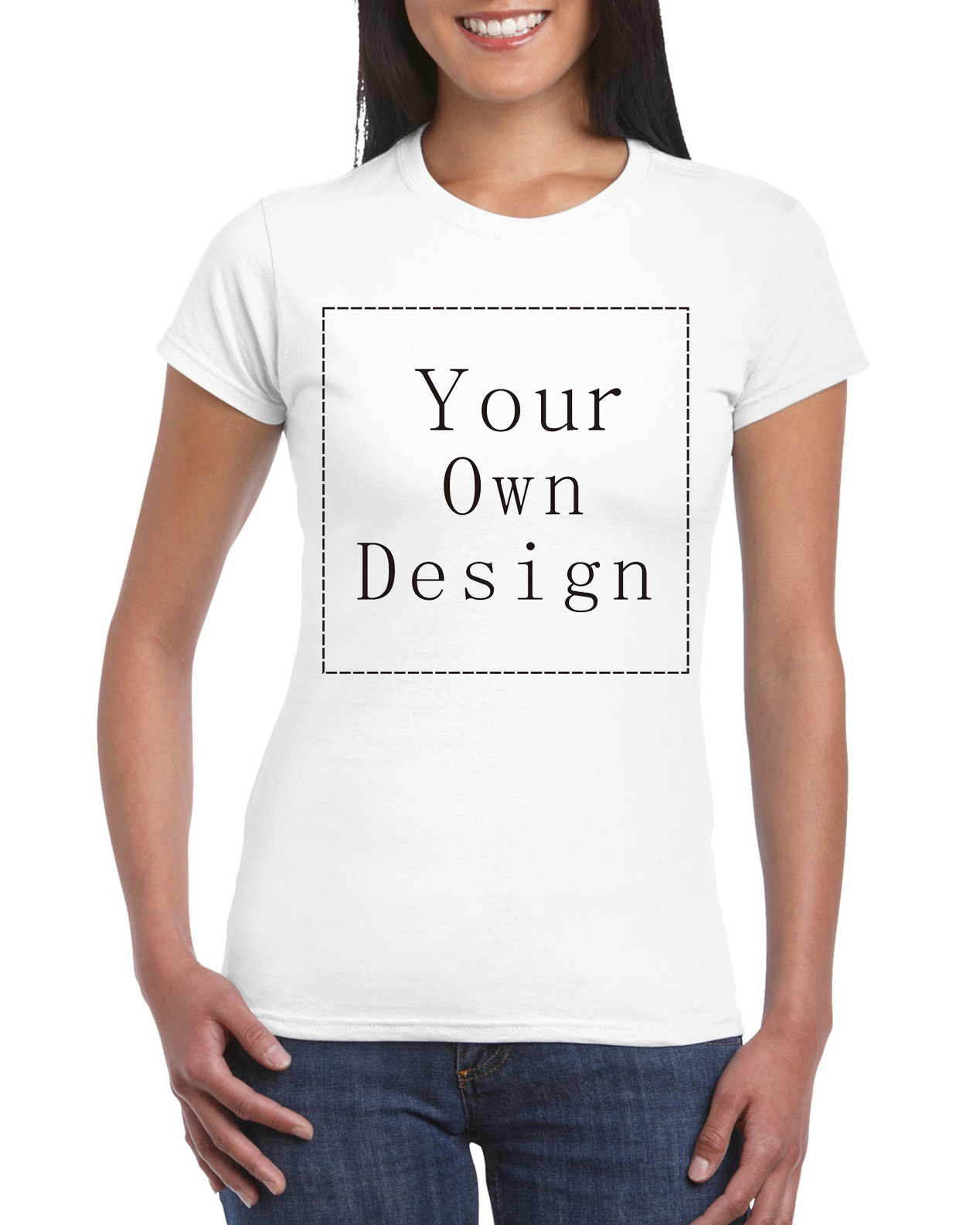 Design your own eco-friendly t-shirt - 2016 Women Your Own Design T Shirt Novelty Tops Lady Custom Printed Short Sleeve Tees