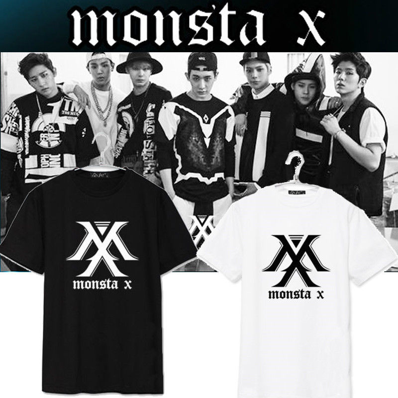 2017 new Monsta X Camiseta EL CLAN Album KPOP Camiseta de la Camiseta Unisex I.M Shownu  ...