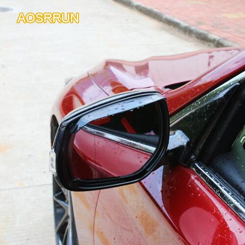 AOSRRUN Acrylic rear view mirror rain eyebrow rear view mirror rain shield rain block font b