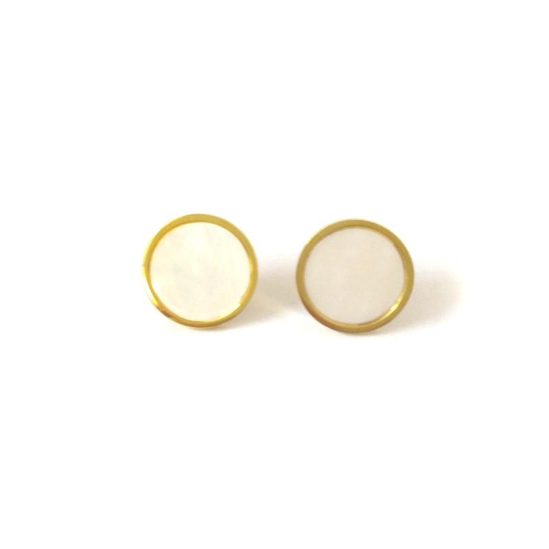 FairLadyHood классические круглые серьги-гвоздики из ракушек серьги из нержавеющей стали для женщин модные золотистые серьги-гвоздики Dorpshipping