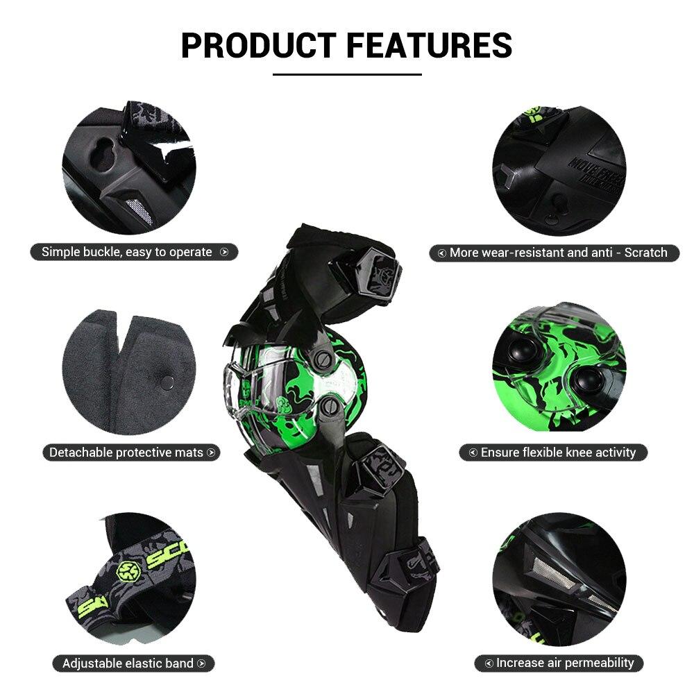 Scoyco Moto genouillère hommes équipement de protection genou Gurad genou protecteur équipement de Rodiller Motocross Joelheira Moto # - 3