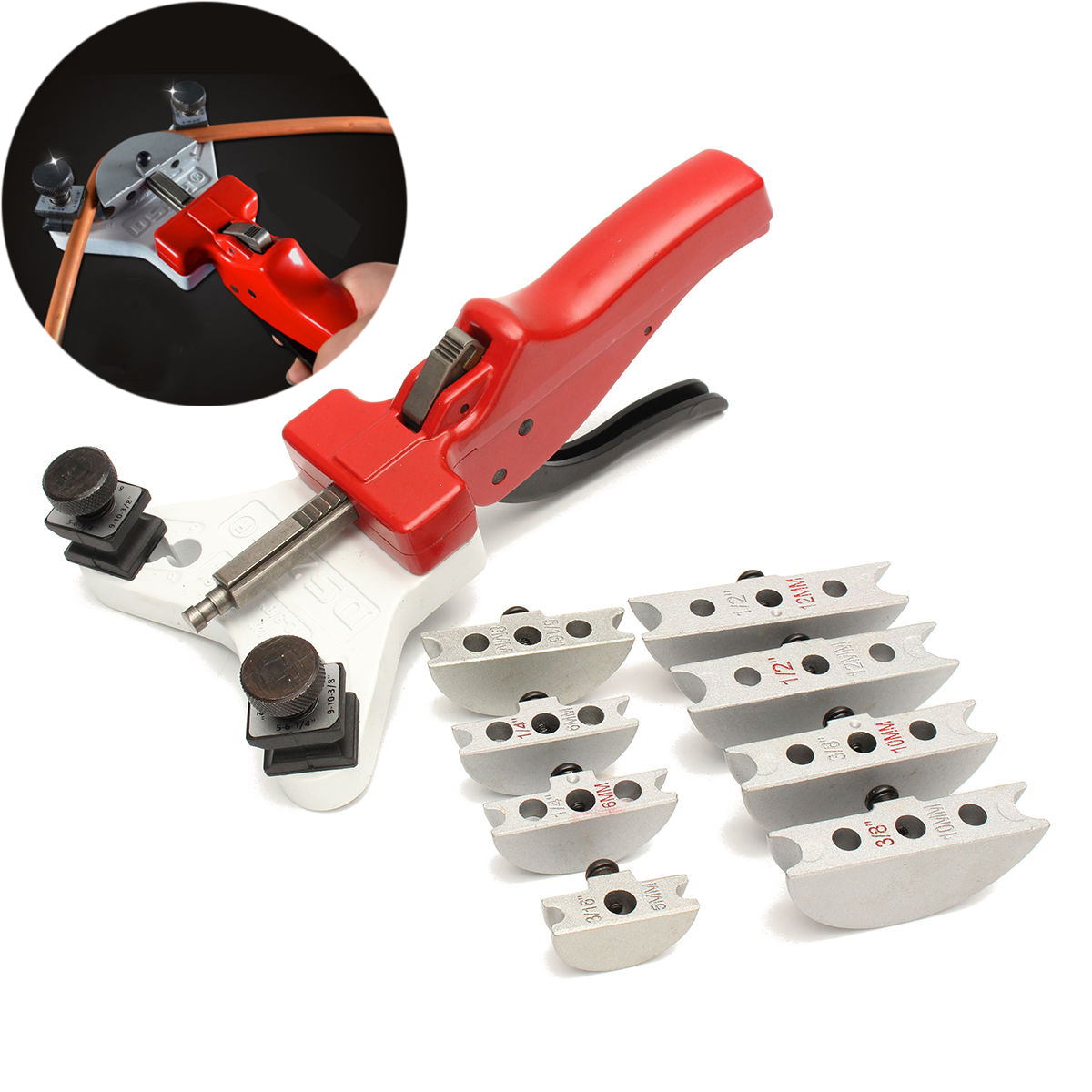 1 Set Heavy Duty Tube Bender Manual Steel Pipe Copper Cutter Machine Tool Set For 5/6/8/10/12mm 7 42mm heavy duty tube cutter ct 312