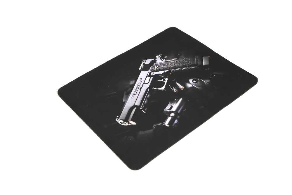 Nieuwe Gun Foto Anti-Slip Laptop PC gaming Muizen Pad Mat Mousepad Voor Optical Mouse Groothandel