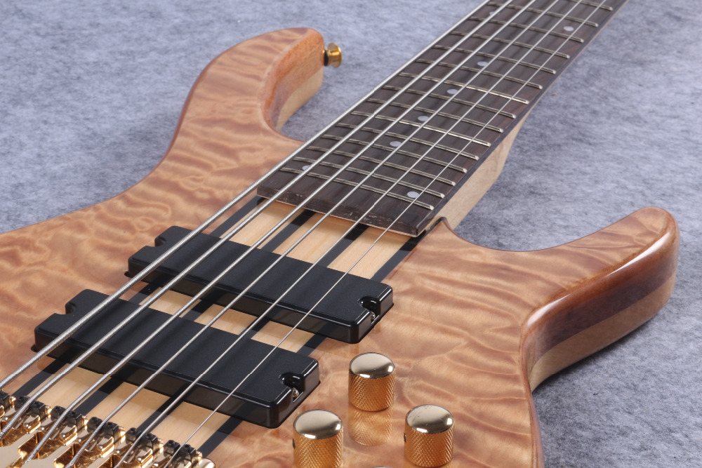 6 strings Bass guitar,Active Pickups Gold hardware ems free shipping