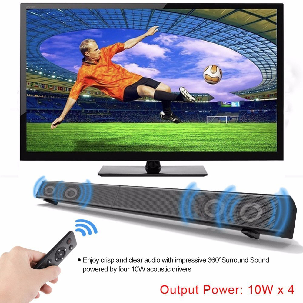 Home Theater 40W Bluetooth Soundbar Bluetooth Speakers Column TV Computer with Subwoofer Optical Coaxial USB AUX Audio Input цена