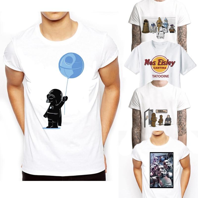 Star Wars sci fi Stormtrooper empire Darth Vader skywalker moive   T  -  Shirt   Men's tee male funny robot   t     shirt   Boy Novelty tshirt