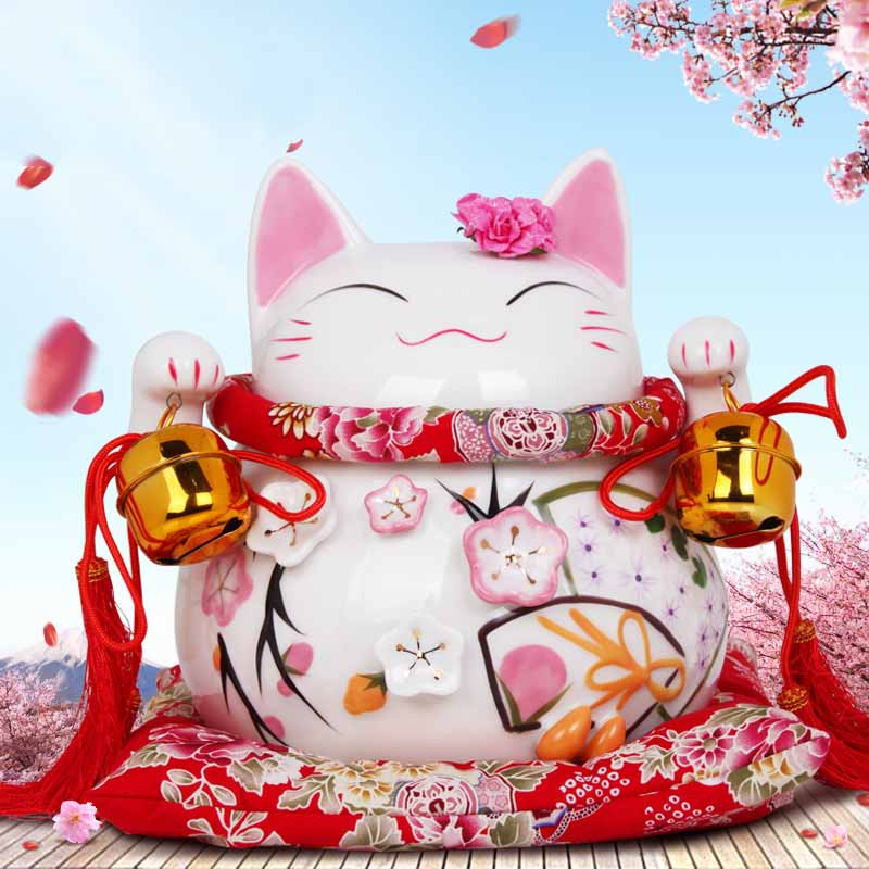 Home Lucky Cat Decoration Piggy Bank Decoration Craft Shop Open Living Room Office Gift