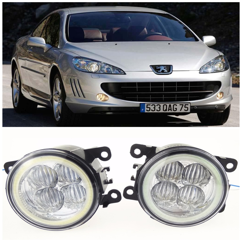 For Peugeot 307 Hatchback 3A 3C  2000-2008 10W high brightness LED Angel eyes fog lights Car styling fog lamps for lexus rx gyl1 ggl15 agl10 450h awd 350 awd 2008 2013 car styling led fog lights high brightness fog lamps 1set