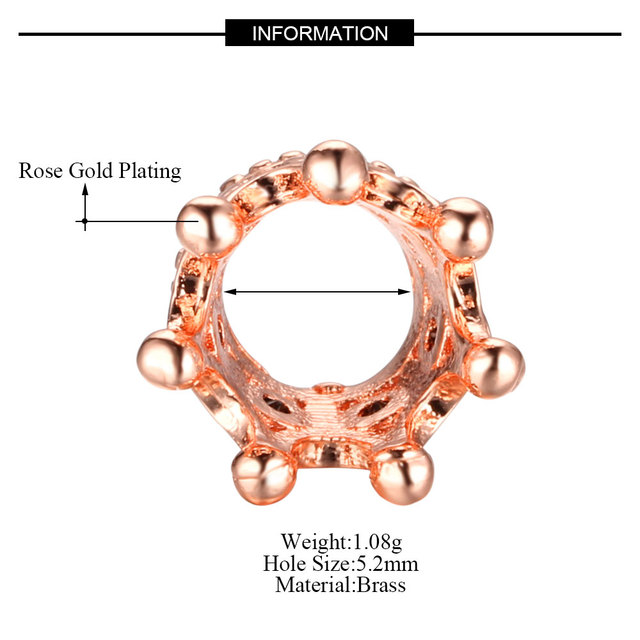 15pcs/lot 7*10.5mm  Lightweight 2019 New style Crown copper micro - insert fittings Trend of the boy