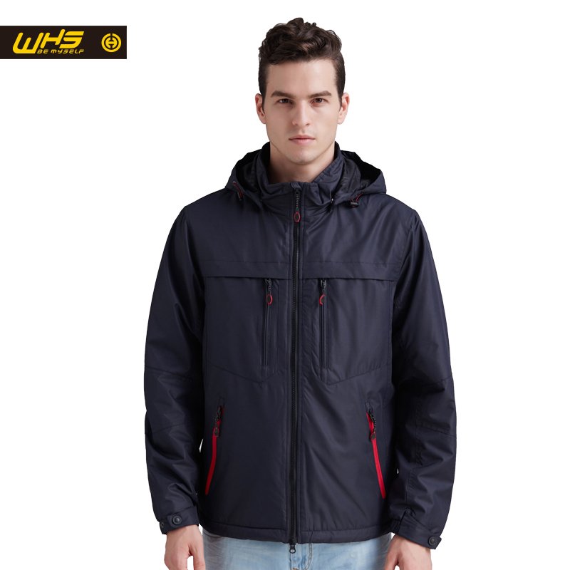 WHS 2017 Autumn Men sport cotton Jacket outdoor camping coat Male fall hiking windproof Clothes spring hansa whs 1255 dji
