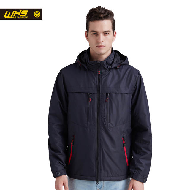 WHS hot sale Autumn Men sport cotton Jacket outdoor camping coat Male fall  hiking windproof Clothes 95c2f1fe9