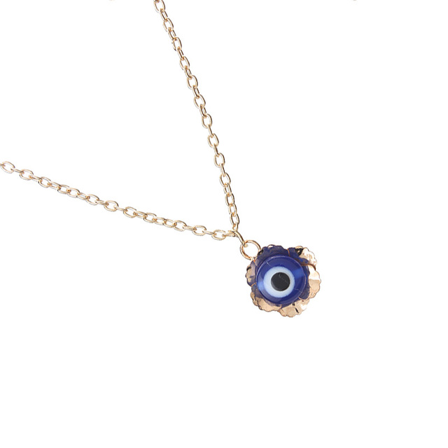 1pc trendy golden zinc alloy link chain blue evil eye pendant necklace for party birthday wedding valentines day jewelry gift in pendant necklaces 1pc trendy golden zinc alloy link chain blue evil eye pendant necklace for party birthday wedding mozeypictu Choice Image