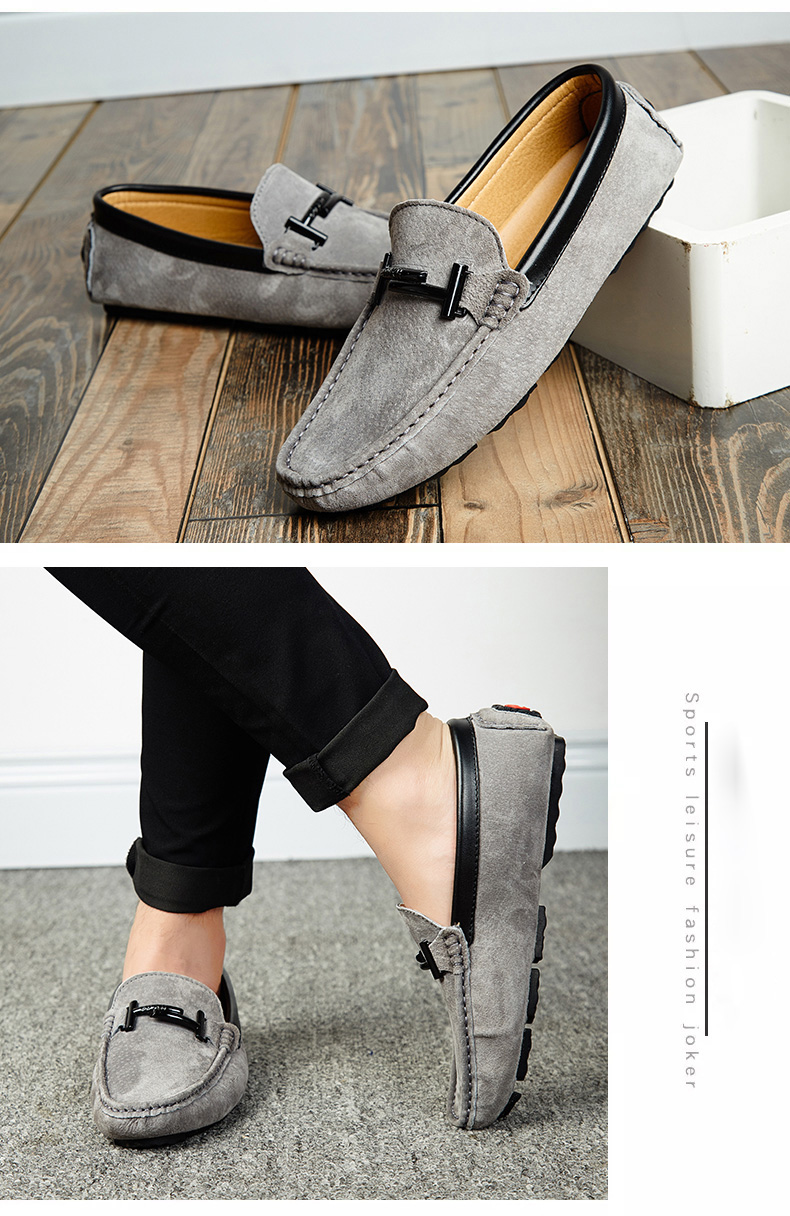 Men's Top Brand Fashion Casual Soft Loafers Suede Boat Shoes Male Footwear Adult Drivings Summer Moccasins Hommes Plus Size 11 61