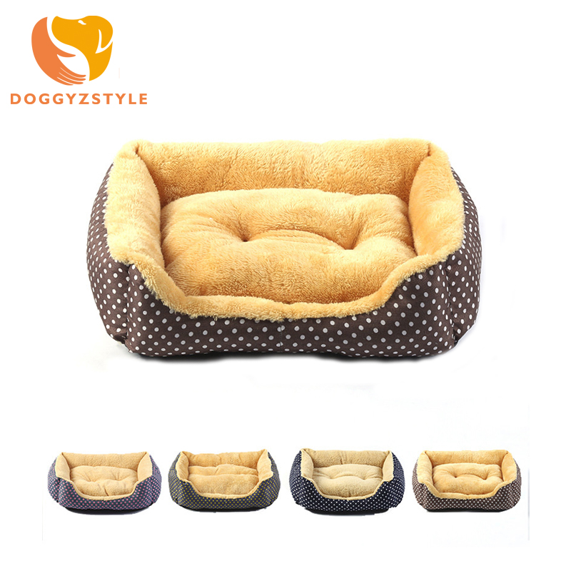 Pet Sofa Dog Bed House Canvas Comfort Cotton Velvet Puppy Warm Mats Removable Doghouse Puppy 4 Color Pet Supplies DOGGYSTYLE ...