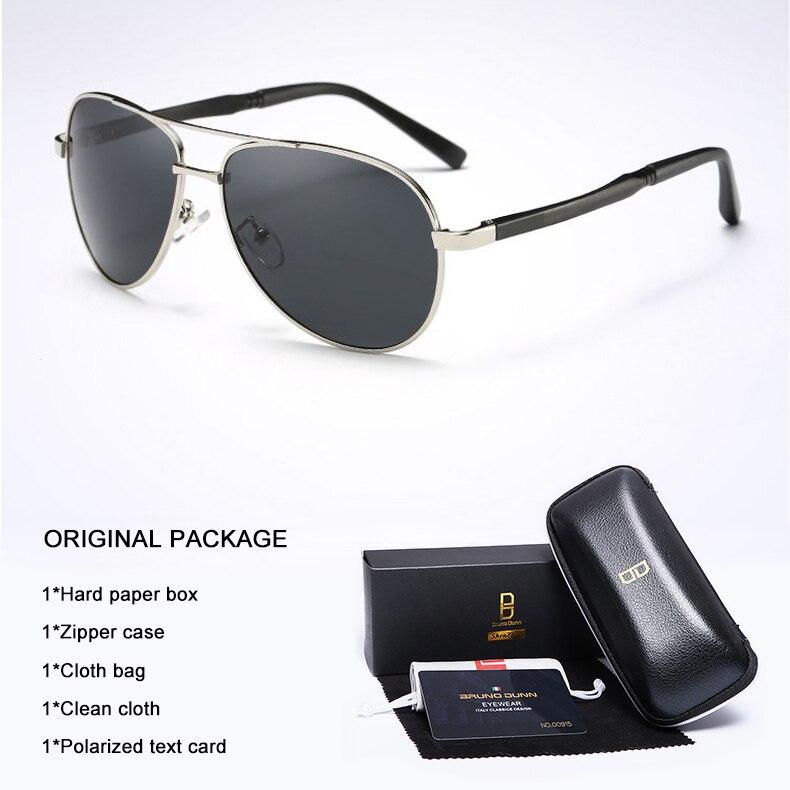 Bruno Dunn 2020 Aviation Men Sunglasses Polarized Sun Glases oculos de sol masculino aviador UV400 high quality  Sunglases 9
