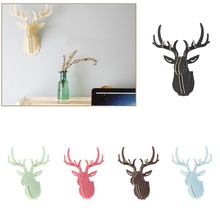 Wooden Veneer Shape Vintage Wood Birdcage Embellishment Craft Products DIY Deer Head