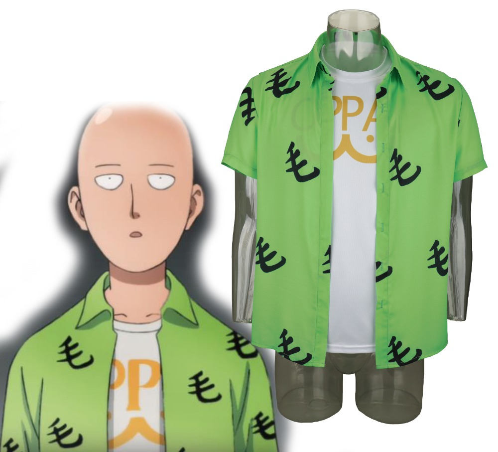 2019 Anime One Punch Man Saitama Mao Shirt Oppai Tee Outfit T-Shirts Cosplay Costume Halloween Party