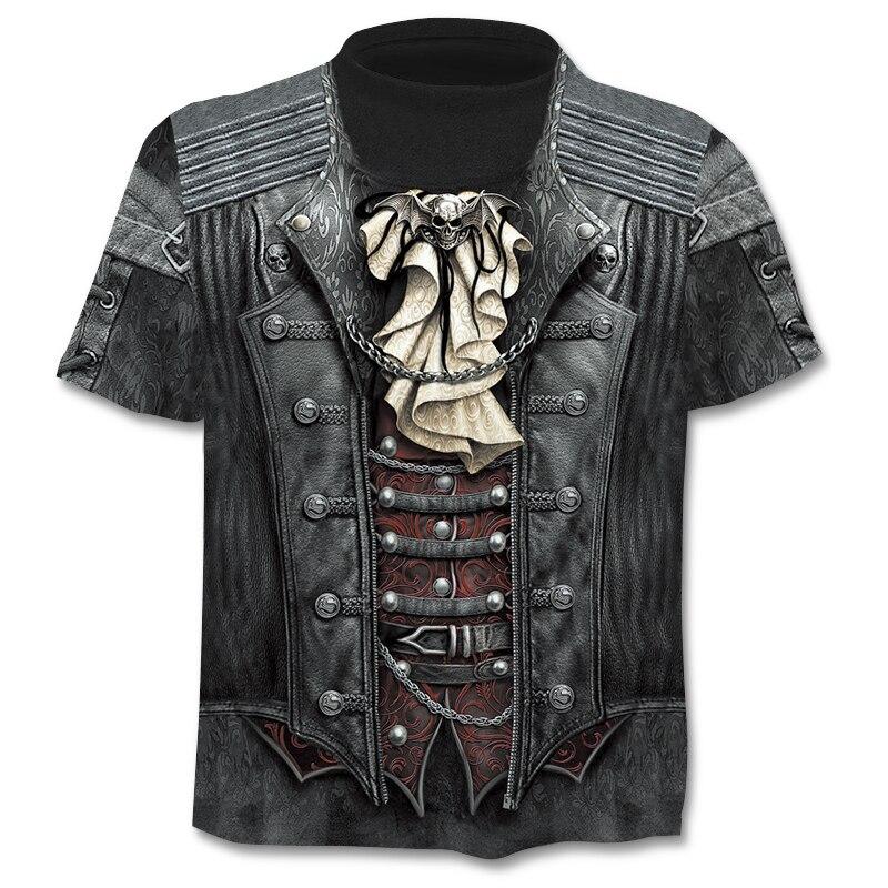Casual men's 3D printing T-shirt