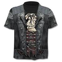 ChangefulVariegated повседневная мужская 3D печать футболка лето с коротким рукавом o-образным вырезом Футболка Модный стиль Мужская рубашка брендов...