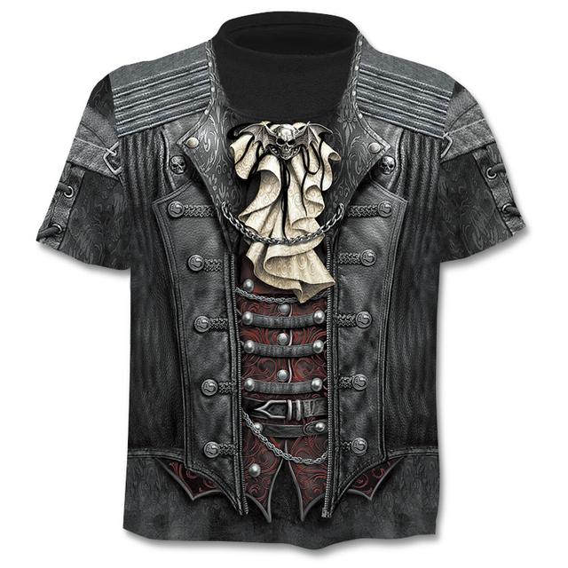 ChangefulVariegated Casual men's 3D printing T-shirt summer short-sleeved O-neck T-shirt fashion style men's shirt brand t-Shirt