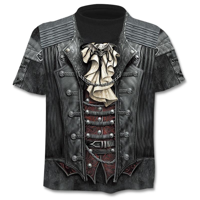 ChangefulVariegated décontracté homme 3D impression T-shirt d'été à manches courtes O-cou T-shirt de mode pour hommes de style chemise t-Shirt de marque