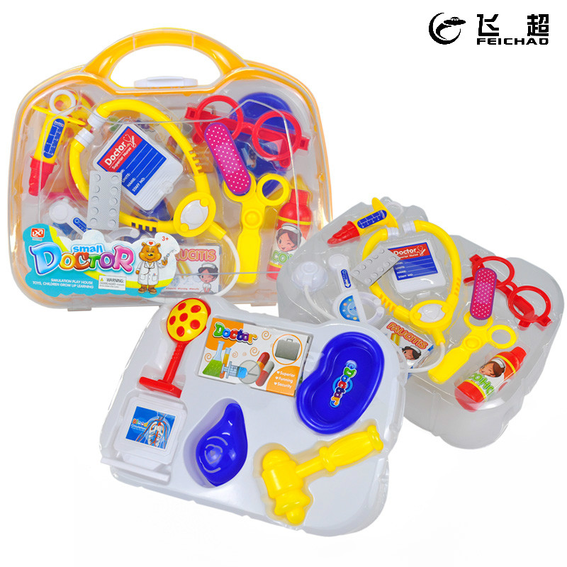 15Pcs Plastic Stethoscope Medicine Box Simulation Doctor Toys Medical Tool Kit for Children Kids Pretend Play Game Girls Gift