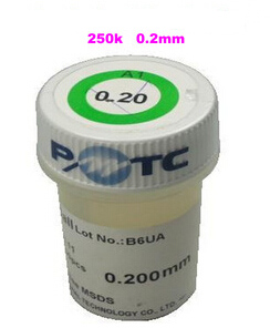 1 PCS pmtc au plomb billes de soudure 250 k 0.2mm pour bga rebillage bille de soudure