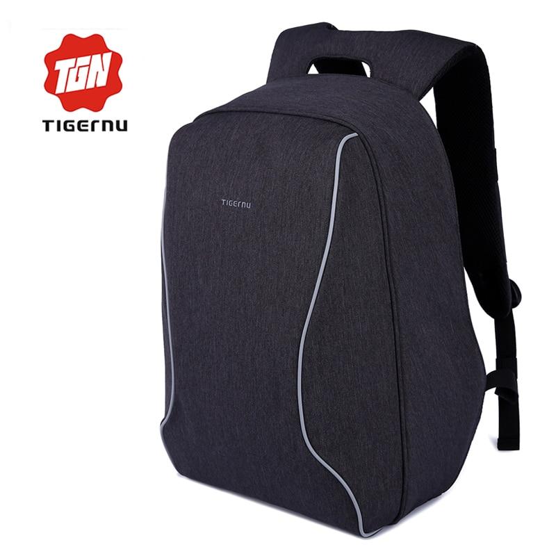 ФОТО Tigernu Women's School Youth Backpacks For Teenage Girls Men's Anti-theft Backpacks Business Laptop Backpack mochila feminina