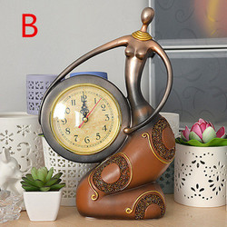 Creative quiet sitting room clock, fashion personality furnishing articles, Europe type restoring ancient ways desk clock.