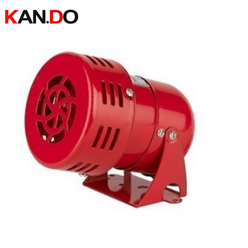 MS 190 220VAC Automotive Air Raid Siren Horn motor Driven Alarm Red Universal Horn for Red Mini Metal Motor Siren|Alarm Siren| |  - title=