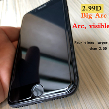 Xwmkai 2.99D Big Arc Screen Protector For Iphone 6 7 8 plus HD Tempered Glass For Iphone6Splus 9H protection Film For Iphone6