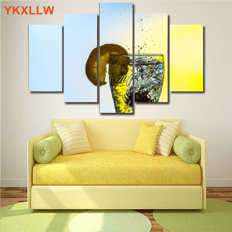 Aliexpress.com : Buy 5 Pieces Fruits Pineapple Pear Watermel Printed Canvas  Painting Spray Paintings Modular Pictures Wallpaper Room Bar Hotel Decor  From ...