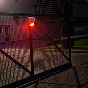 עמיד למים שמש 6 LED מעורר אזהרת אבטחה נגד גניבה מהבהב אור חיישן גן מנורה