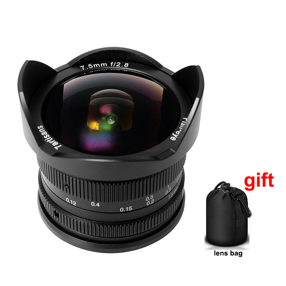 7 artisans 7.5mm F/2.8 Grand Angle Fisheye 180 Degrés Multi-enduit pour Sony Monture E A9 A7 A7S A7RII A7SII A6300 NEX-7 Caméra