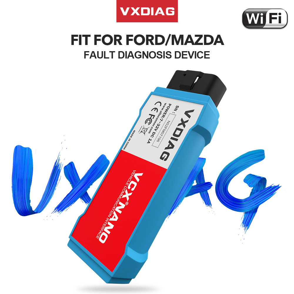 2019 VXDIAG VCX NANO For Ford For Mazda OBD2 Car Diagnostic Tool 2 in 1 IDS V112 WiFi Obd Scanner For Mazda PCM, ABS,Programming