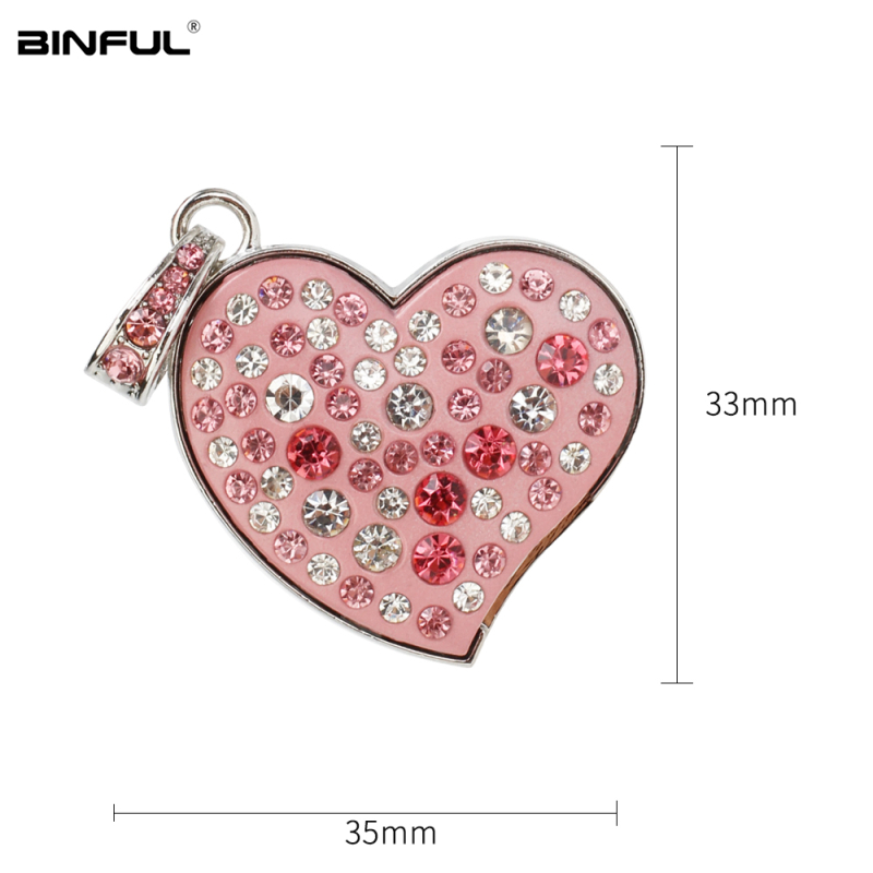 Image 4 - New Arrival pen drive metal love Heart usb flash drive 32gb crystal pendrive 128GB 64GB 16GB 8GB 4G flash Memory stick best gift-in USB Flash Drives from Computer & Office
