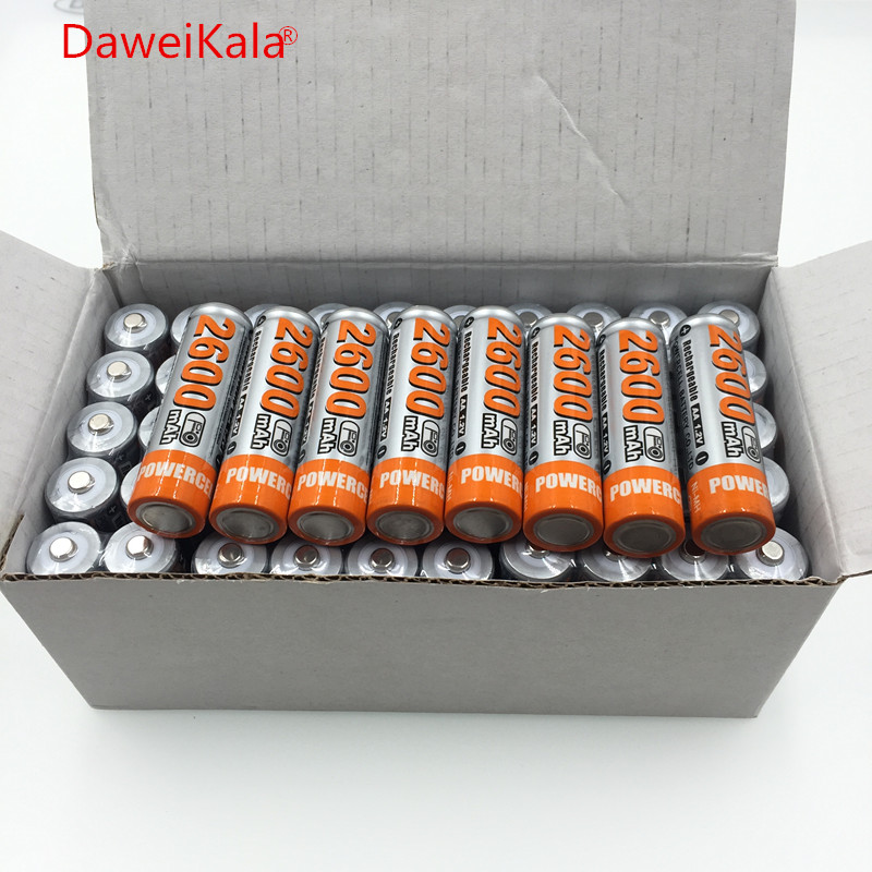 100% Original 1,2 V 2600 mAh NI MH AA Bereits Geladen Wiederaufladbare Batterie Ni-Mh aa Batterie Für Spielzeug Kamera mikrofon