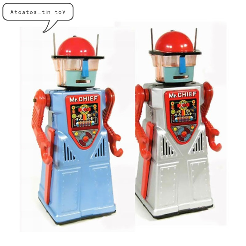 Vintage m. chef Robot Collection étain jouets classique horloge liquidation électrique robot étain jouets pour adultes enfants à collectionner cadeau
