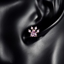 Jewelry Dog Paw Print  Earring  for Women