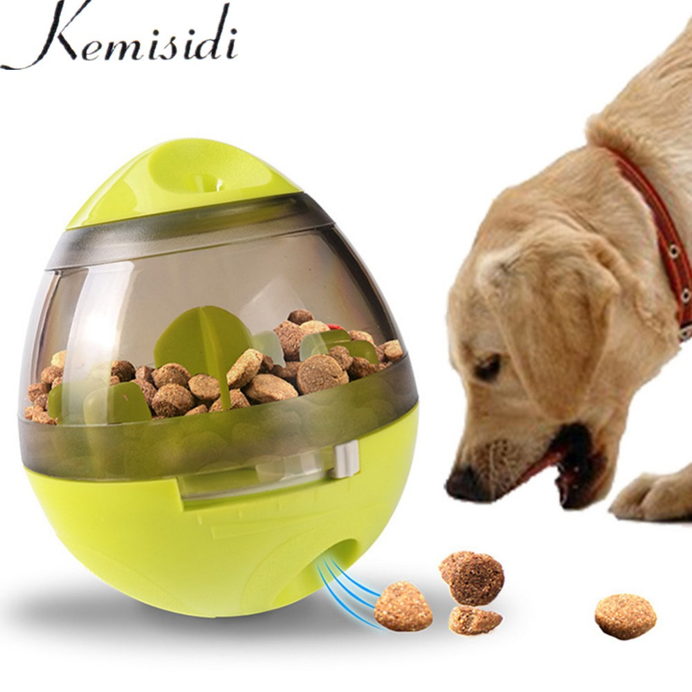 KEMISIDI Dog Treat Interactive Food Dispenser Ball Slow Feeding Tumble Ball Funny Dog Food Ball Chew Feed Dogs Pet IQ Treat Ball