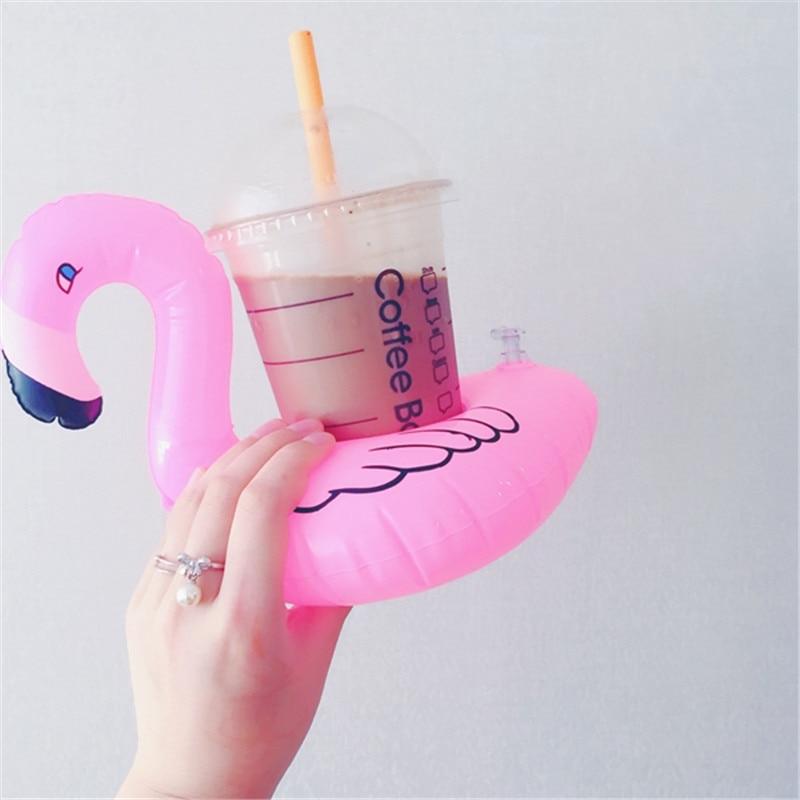 미니 워터 컵 받침 boia Flamingo 부동 풍선 컵 홀더 - 수상 스포츠 - 사진 3