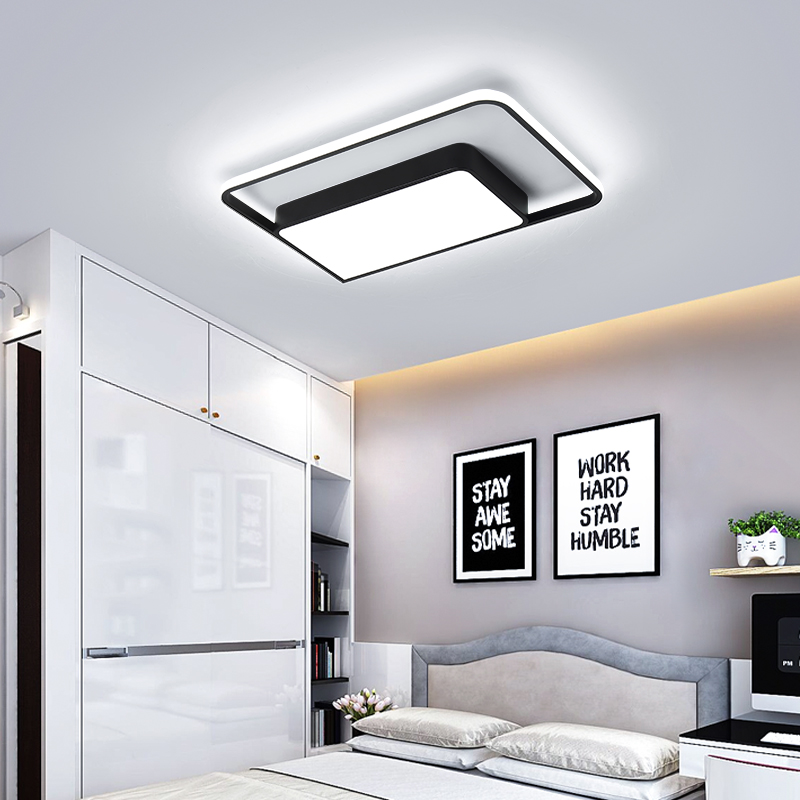 Modern Led Ceiling Lights with Remote Control Ceiling Lamp for Living Room Flush Mount Indoor Lighting Bedroom Kitchen Bathroom lustre flush mount led modern crystal ceiling lamp lights with 1 light for living room lighting free shipping