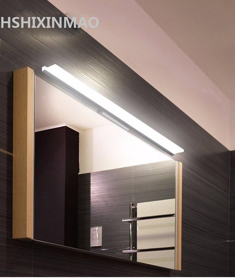 Livraison Plus LED Miroir Lumière 0.4 M ~ 1.2 M AC90-260V Moderne Cosmétique Acrylique Mur lampe Salle De Bains Éclairage Étanche AC85-260V