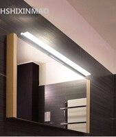 free Longer LED Mirror Light 0.4M~1.2M AC90 260V Modern Cosmetic Acrylic Wall lamp Bathroom Lighting Waterproof AC85 260V