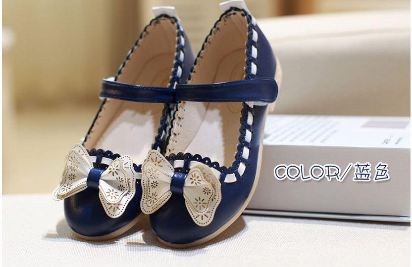 Ребенок Обувь для девочек тонкие туфли для маленьких Сандалии для девочек принцесса Обувь Новая Осенняя обувь с бантом Обувь для девочек Wild...